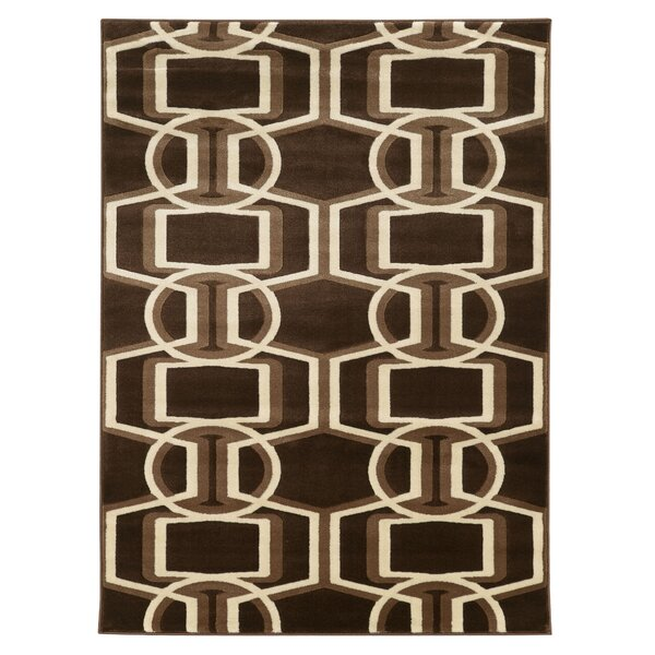 Danby Chocolate/Beige Area Rug by Threadbind