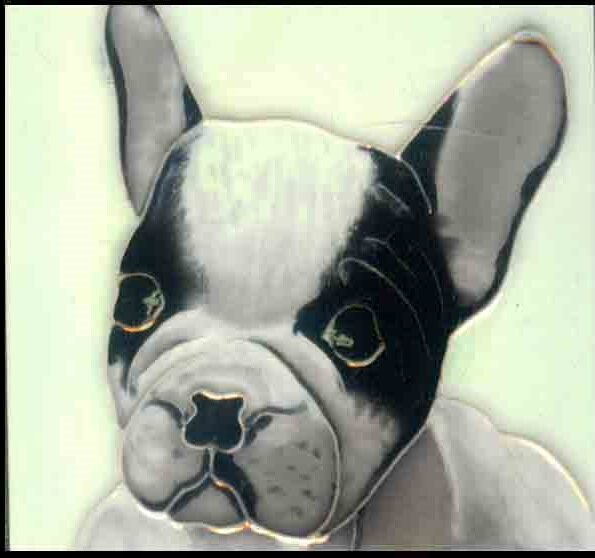 Dog  2 Tile Wall Decor by Continental Art Center