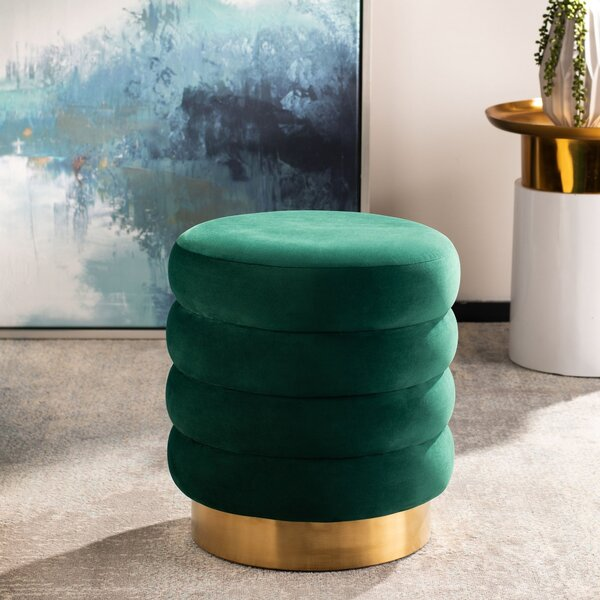 Splendora Tufted Ottoman by Everly Quinn