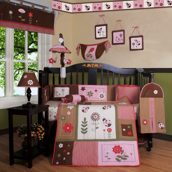 Boutique Ladybug Flower 12 Piece Crib Bedding Set by Geenny