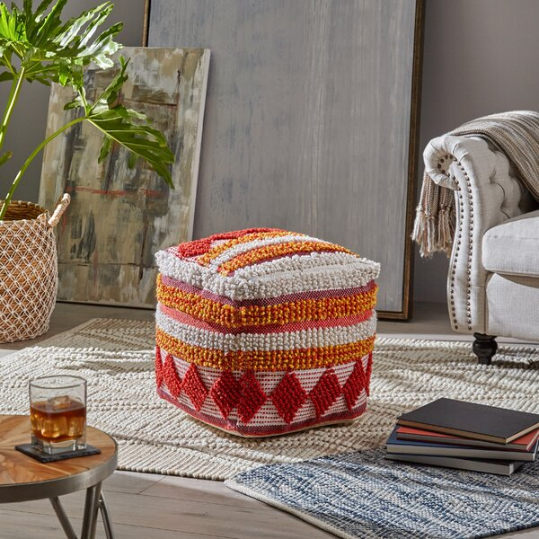 Belisle Yarn Pouf by Bungalow Rose