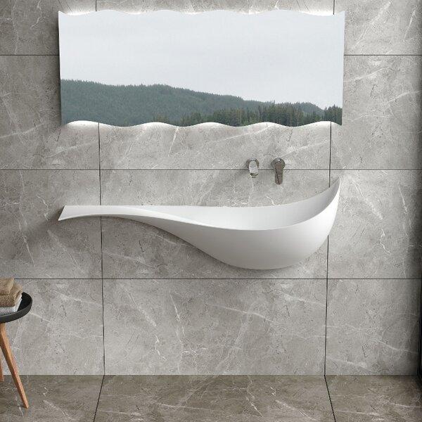 Mermaid Stone 47 Wall Mount Bathroom Sink by InFurniture