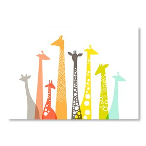 Giraffes Graphic Art on Canvas by Viv + Rae
