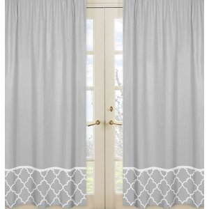 Trellis Geometric Semi-Sheer Rod pocket Curtain Panels (Set of 2)