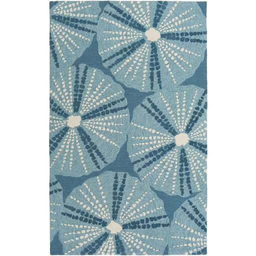 Claiborne Hand Woven Teal Area Rug by Highland Dunes