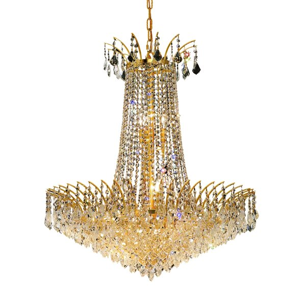 Phyllida 16 - Light Statement Empire Chandelier with Crystal Accents by Everly Quinn Everly Quinn
