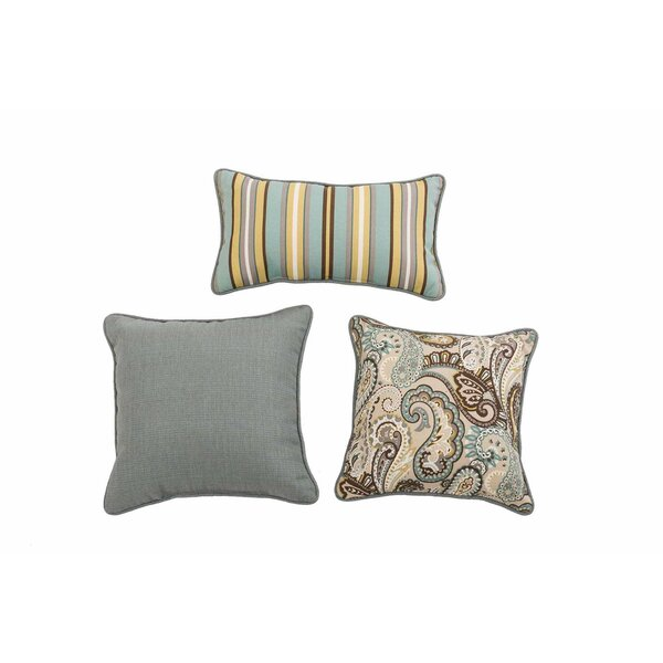 Evatt Paisley Quartz 3 Piece Pillow Set by Red Barrel Studio