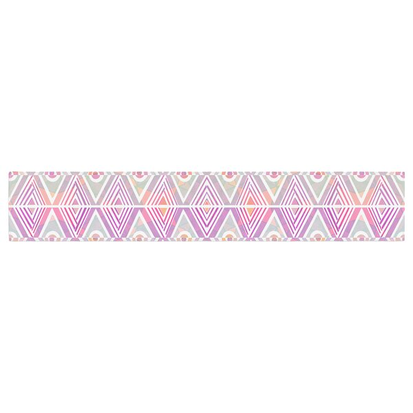 Pom Graphic Design Soft Petal Tribal Table Runner by East Urban Home