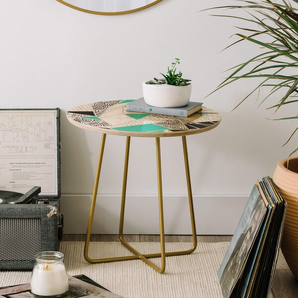Marta Barragan Camarasa Abstract Geometric End Table by East Urban Home