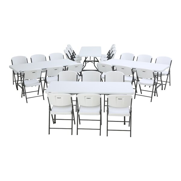72 Rectangular Folding Table Set by Lifetime