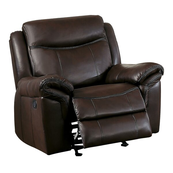 Colt Upholstered Manual Glider Recliner by Red Bar