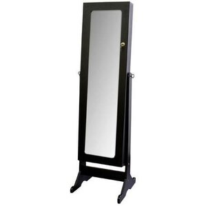 Bryonhall Standing Storage Jewelry Armoire with Mirror by Red Barrel Studio