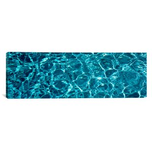 Panoramic Swimming Pool Ripples Sacramento California Photographic Print on Wrapped Canvas by iCanvas