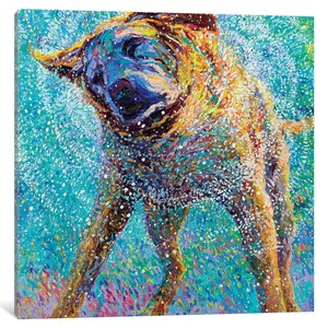 Iris Scott - Sunset Swim Painting Print on Wrapped Canvas by Red Barrel Studio