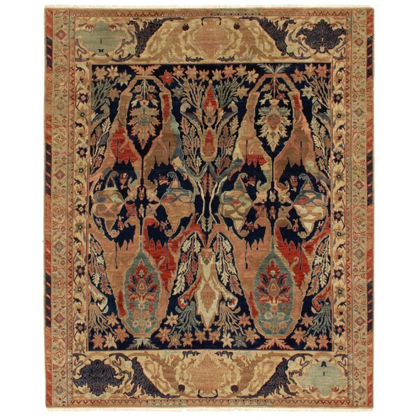 Jurassic Hand Knotted Wool Blue/Beige Area Rug by Exquisite Rugs