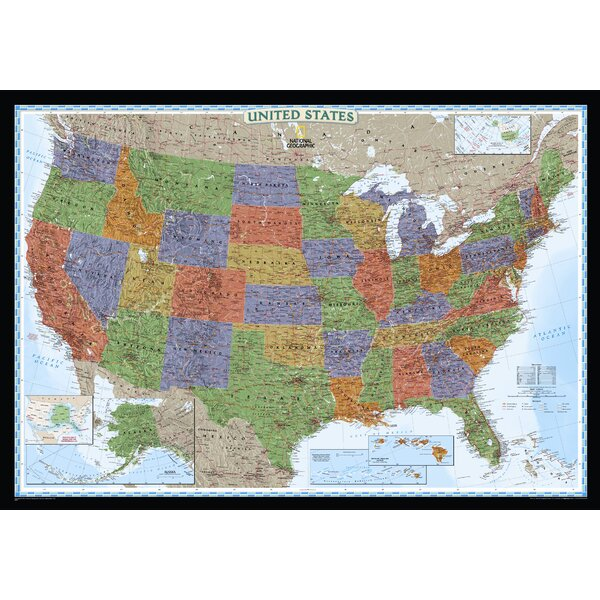 United States Decorator Wall Map by National Geographic Maps