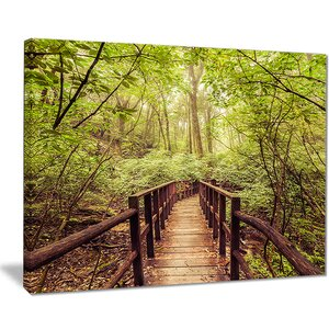 'Jungle in Vintage Style' Photographic Print on Wrapped Canvas by Design Art