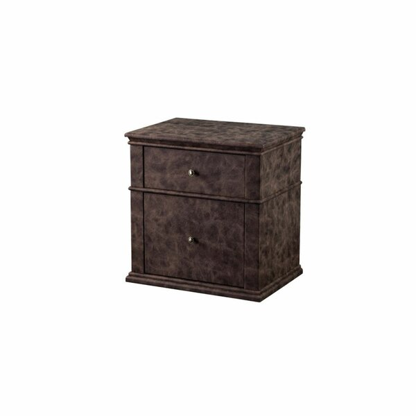 Gove Leatherette Upholstered Wooden 2 Drawer Nightstand by Gracie Oaks