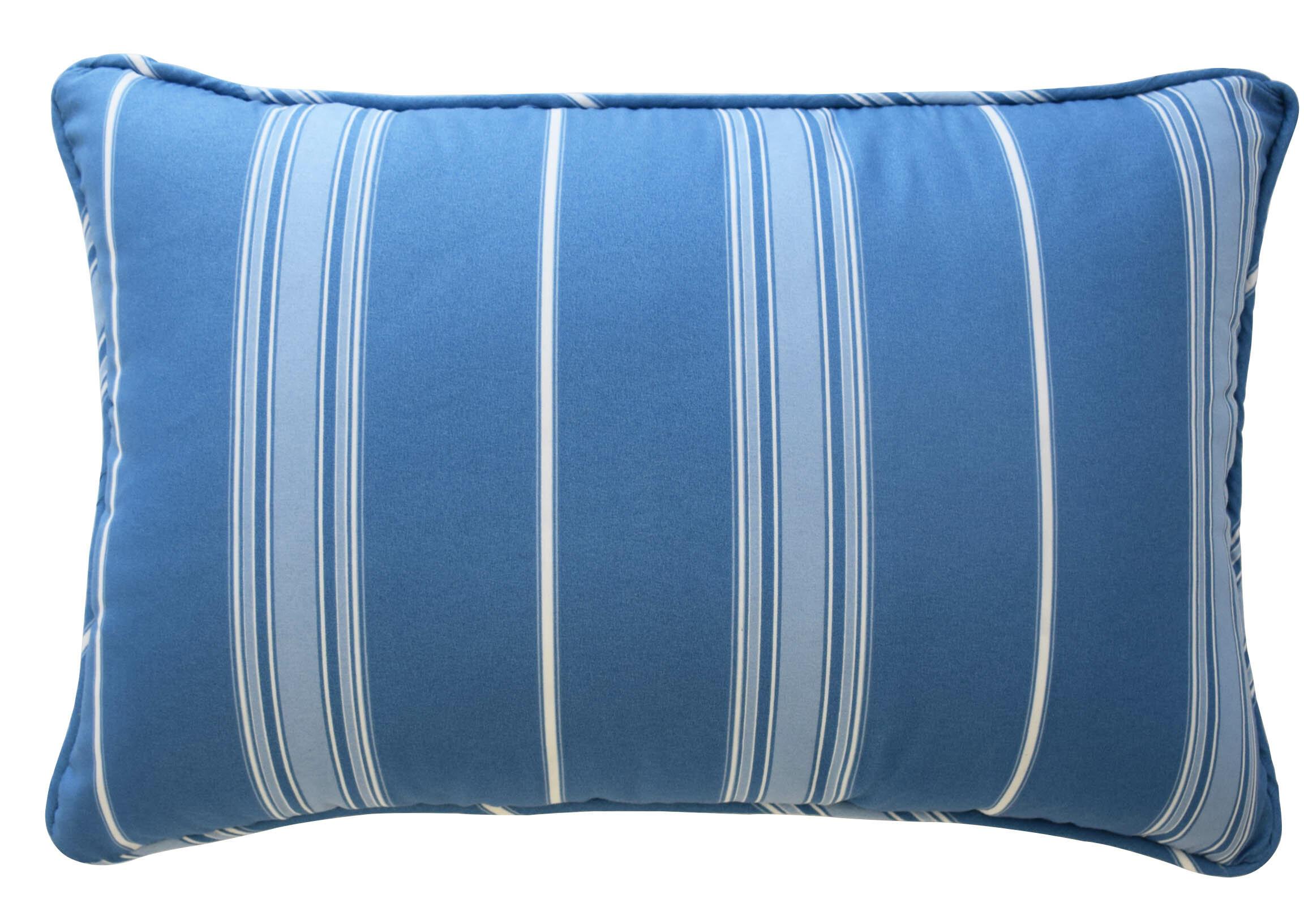 Waverly Ride The Waves Striped Polyester Lumbar Pillow Reviews Wayfair