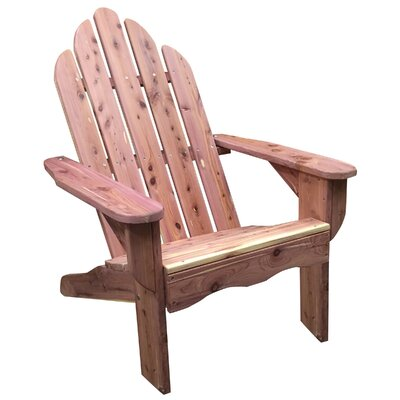 Solid Wood Adirondack Chair AmeriHome