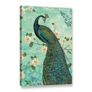Peacock Arbor IV Graphic Art on Wrapped Canvas by Lark Manor