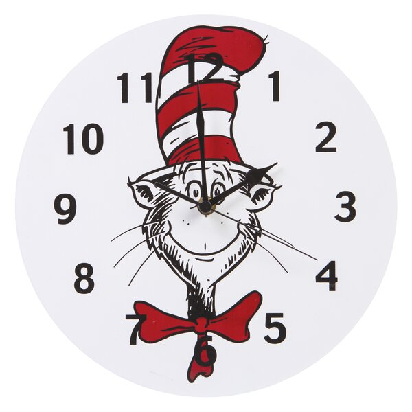 Dr. Seuss Cat in the Hat 11 Wall Clock by Trend Lab