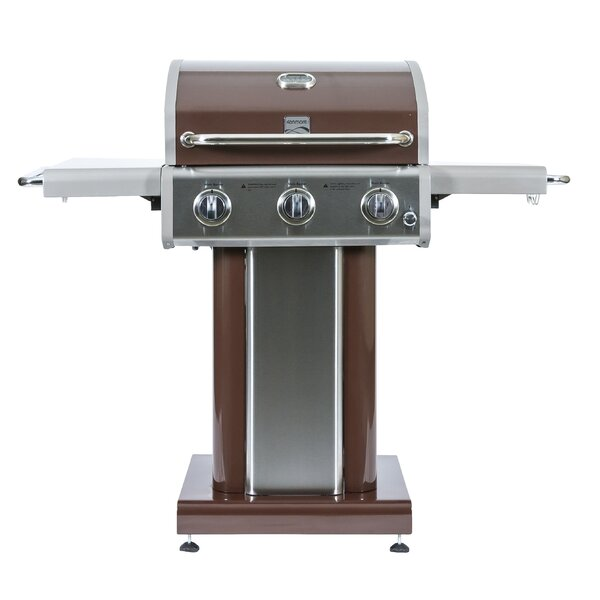 3 Burner Propane Gas Grill with Side Shelves by Ke