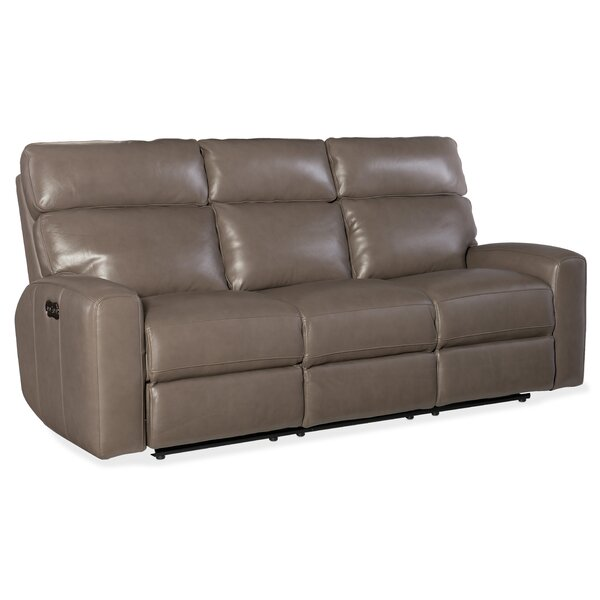 Clearance Mowry Power Motion Leather Reclining Sofa by Hooker Furniture by Hooker Furniture