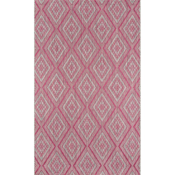 Lake Palace Rajastan Weekend Pink Indoor/Outdoor Area Rug by Madcap Cottage by Momeni
