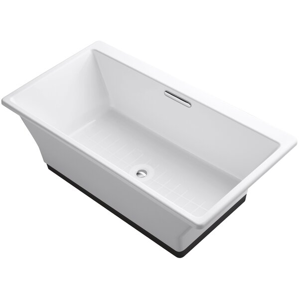 Reve 67 x 36 Freestanding Bathtub with Brilliant Ash Base by Kohler