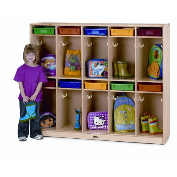 4 Tier 5 Wide Coat Locker by Jonti-Craft