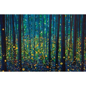 'Fireflies' Graphic Art Print on Canvas by East Urban Home