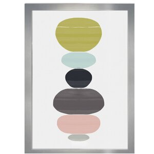 Perfect Balance Framed Graphic Art Print by Mercury Row