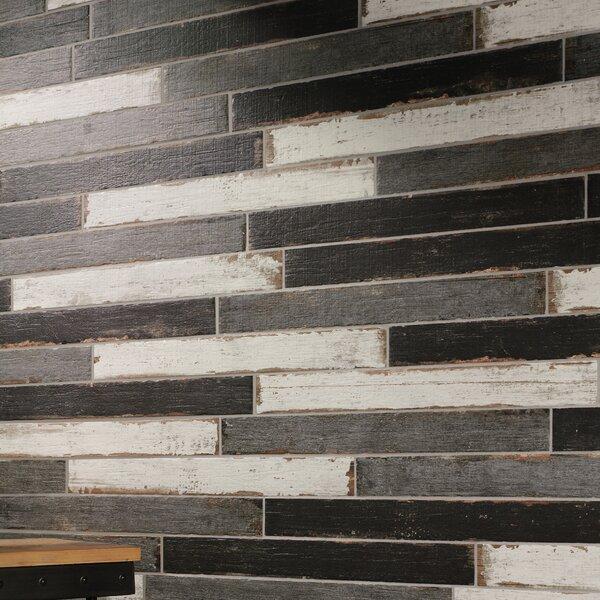 Rama 2.75 x 23.5 Porcelain Wood Look/Field Tile in White by EliteTile