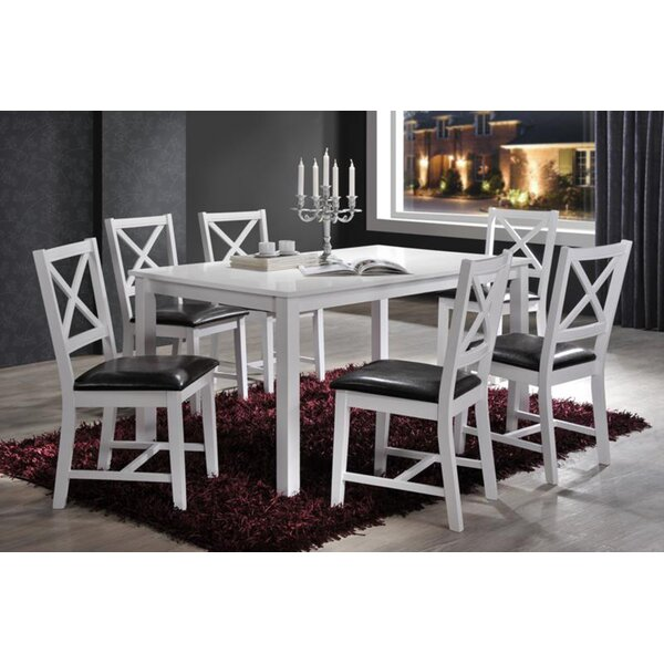 Jorge Cross Back 7 Piece Dining Set by Darby Home Co