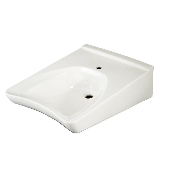 Commercial Ceramic 21 Wall Mount Bathroom Sink with Overflow by Toto