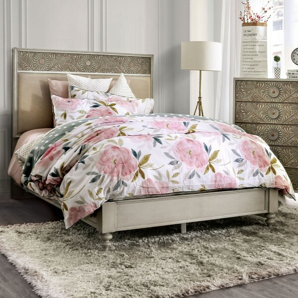 Massira Upholstered Standard Bed by Bungalow Rose