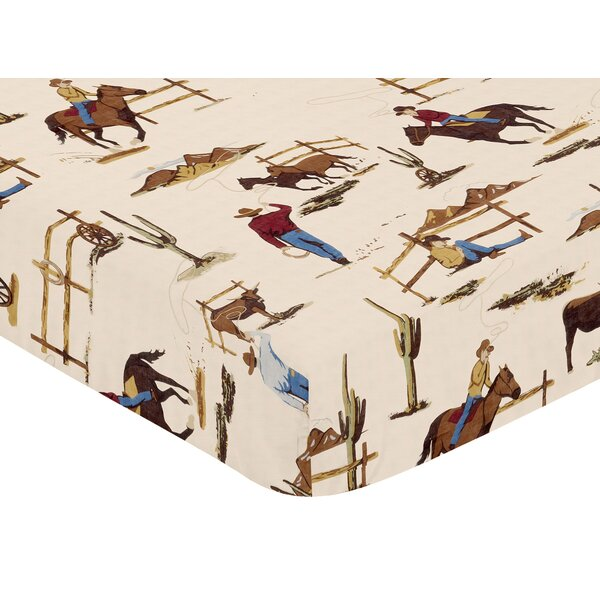 Wild West Cowboy Fitted Crib Sheet by Sweet Jojo Designs