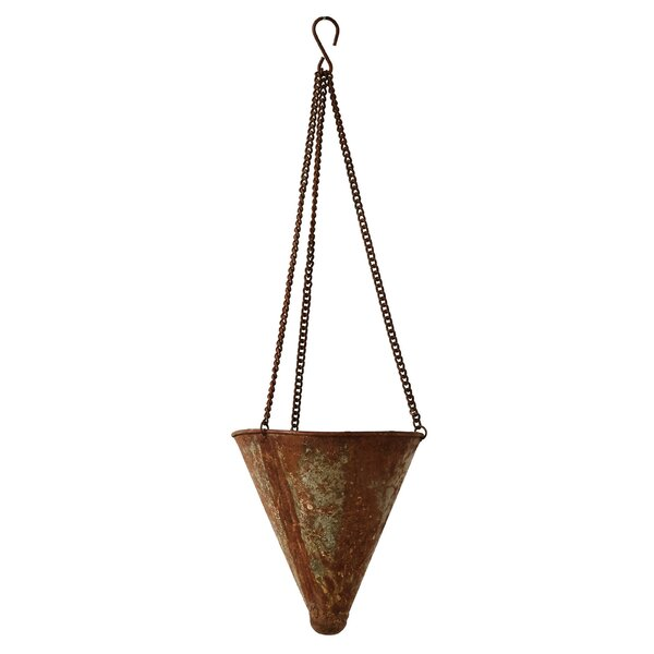 Volker Iron Hanging Planter by Gracie Oaks