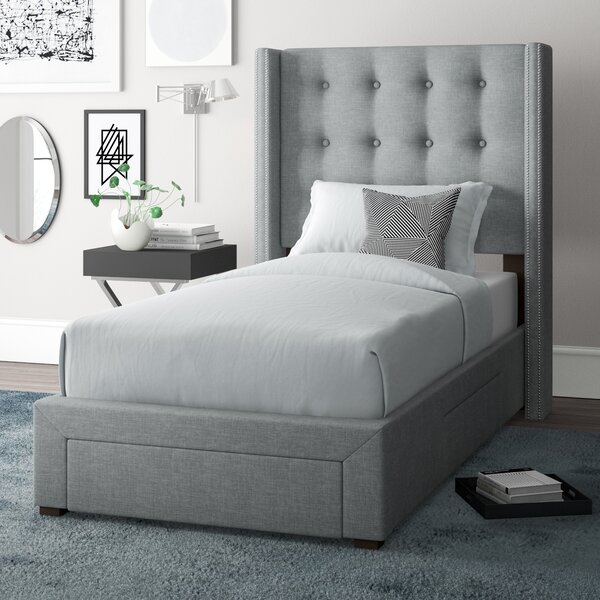 Arno Twin Upholstered Storage Standard Bed by Wade Logan