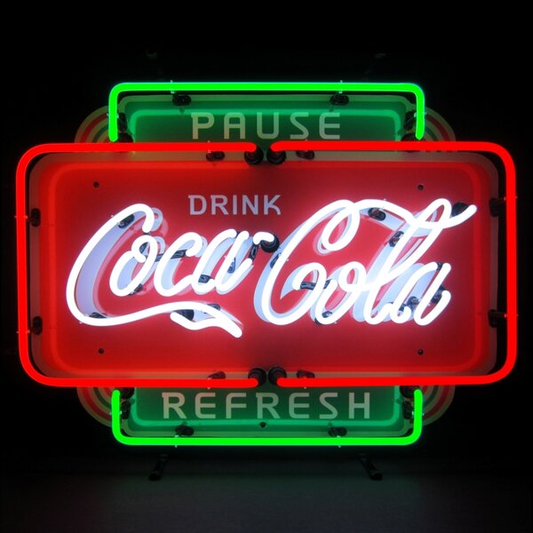 Coca-Cola Pause Refresh Neon Sign by Neonetics