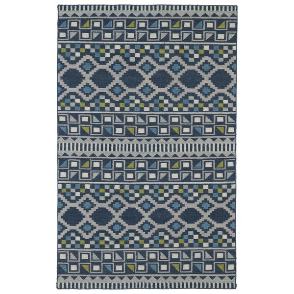 Marble Falls Blue Geometric Area Rug by Wrought Studio