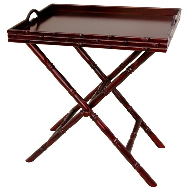 Tea Tray and Trestle Stand Set by Oriental Furniture