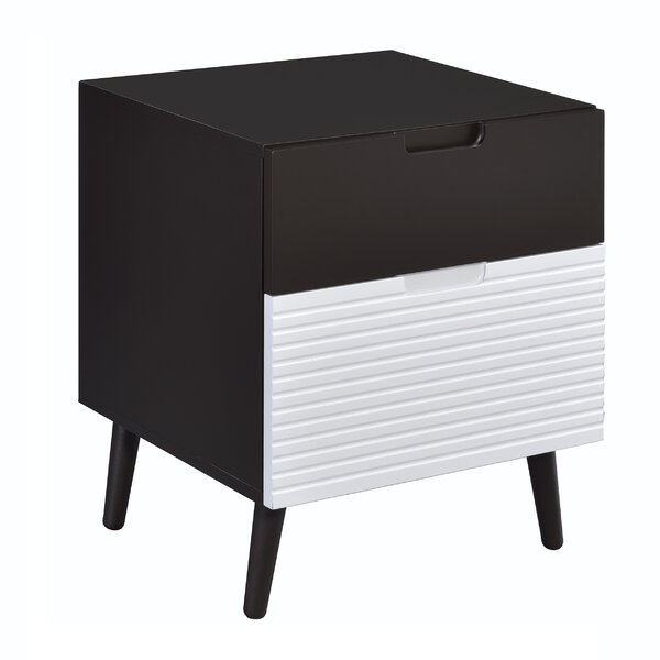 Crume 2-Tone 2 Drawer Nightstand By George Oliver
