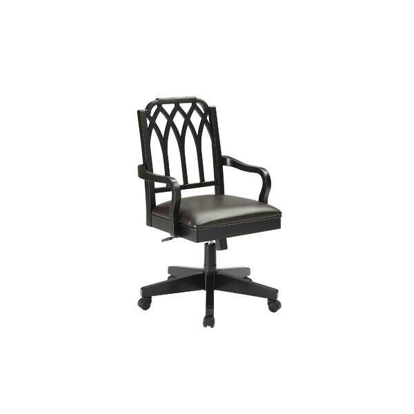 Otwell Filigree Mid-Back Bankers Chair by Darby Home Co
