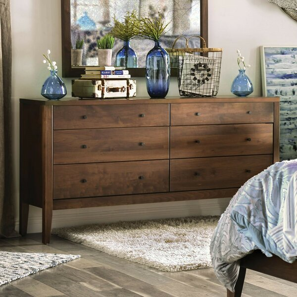 Butz 6 Drawer Double Dresser by Foundry Select