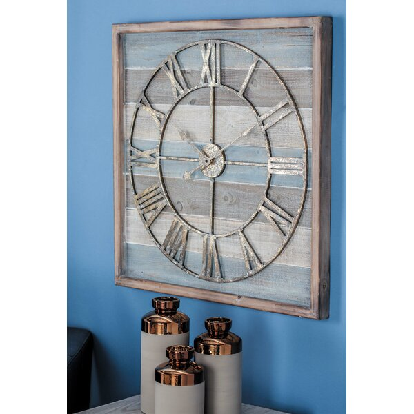 Wood/Metal Wall Clock by Cole & Grey