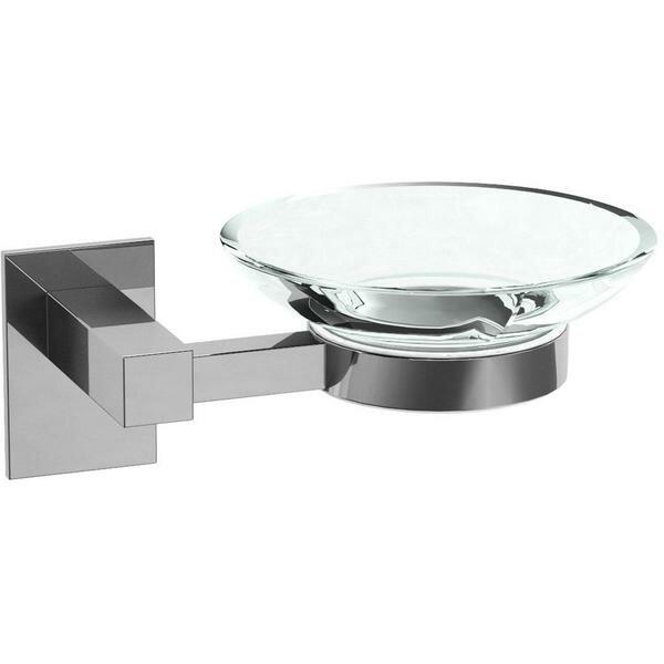 Sorenson Self-Adhesive Glass Soap Dish by Orren Ellis