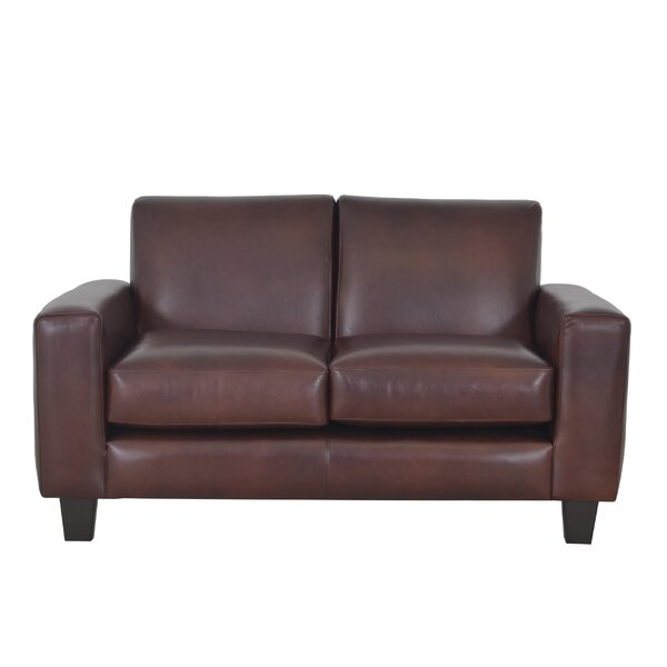 Columbia Leather Loveseat by Westland and Birch