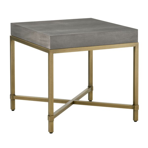 Ormside Shagreen End Table by Gracie Oaks